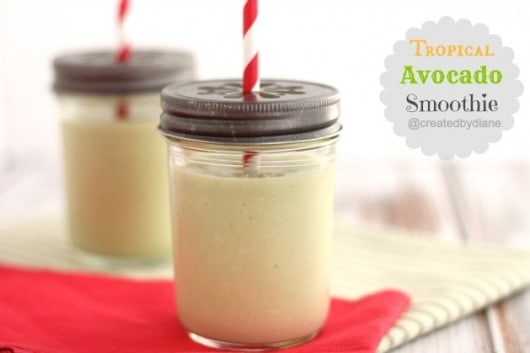 tropical avocado smoothie from @createdbydiane using @ca_avocados