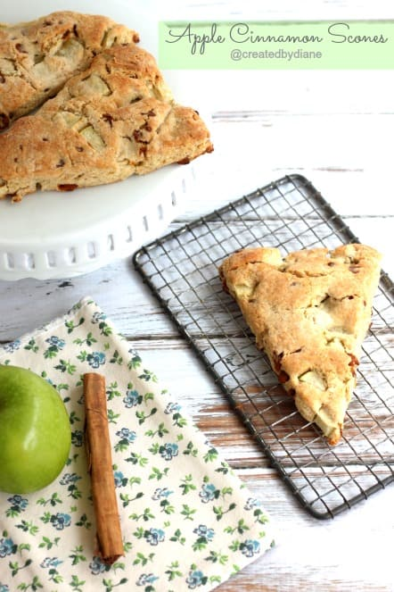 Apple Cinnamon Scones @createdbydiane