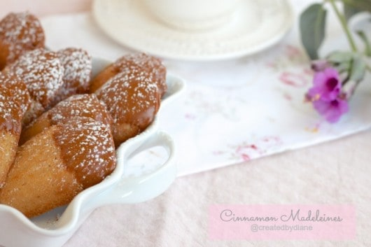 Cinnamon Madeleines with melted cinnamon chips @createdbydiane