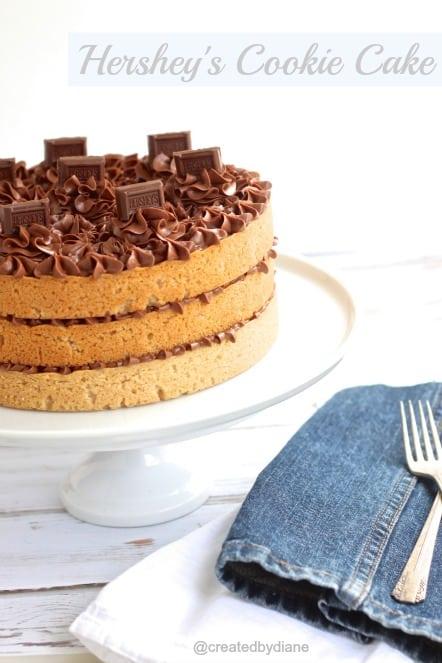 Hershey's Cookie Cake @createdbydiane