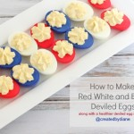 How to make Red White and Blue Deviled Eggs @createdbydiane #eggs #july4 #patriotic #redwhiteblue #recipe #healthy .jpg