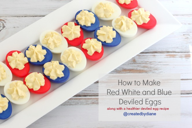 how to make red white and blue deviled eggs createdbydiane eggs july4