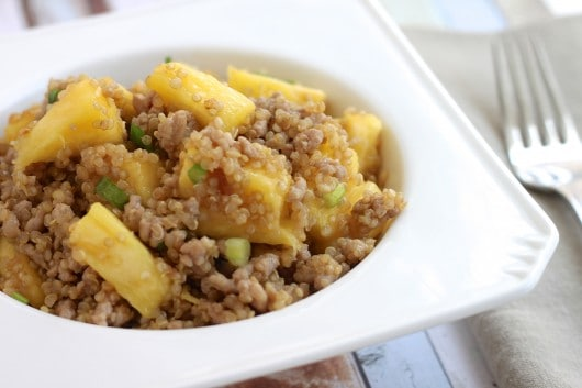 pork pineapple and quinoa