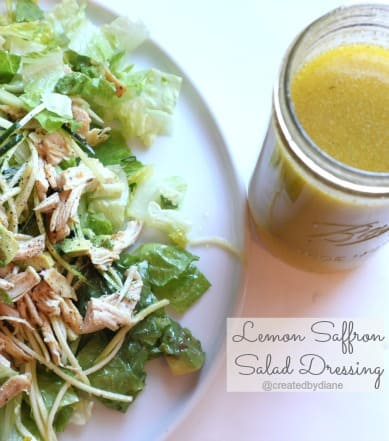 Lemon Saffron Salad Dressing from @createdbydiane