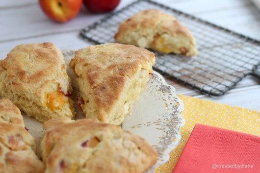 Nectarine Scones Peach Scones @createdbydiane