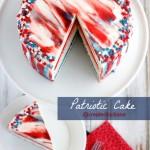 Patriotic Cake @createdbydiane #july4 #cake #recipe