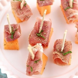 Prosciutto and Cantaloupe Appetizers