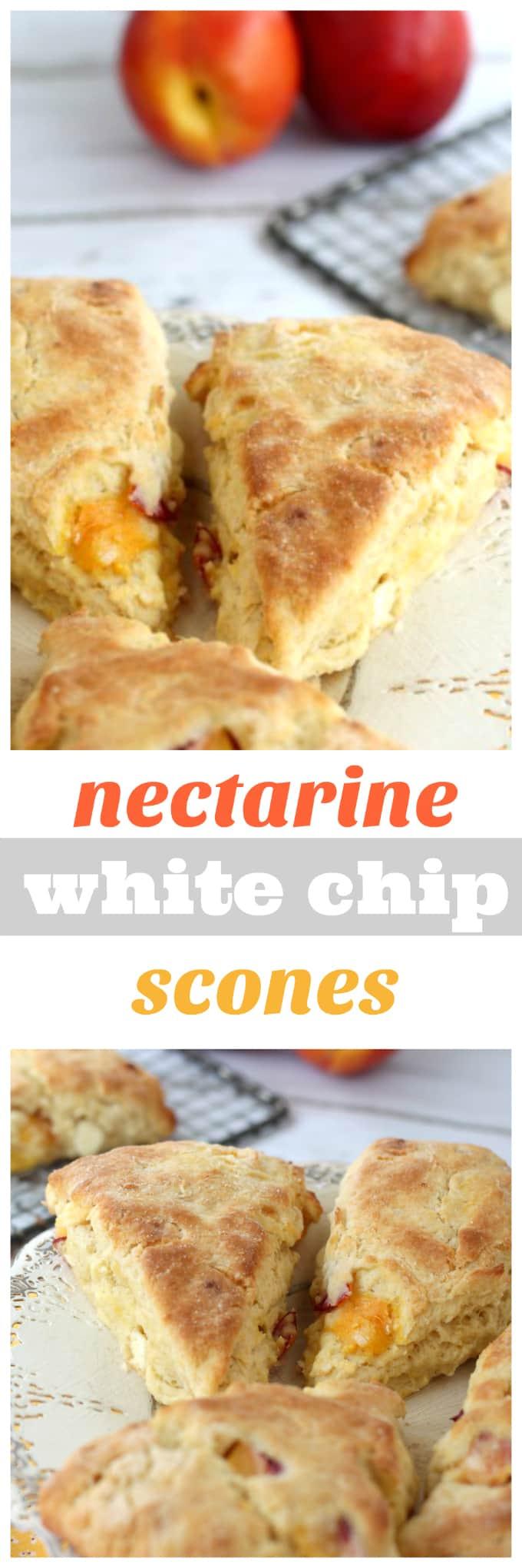 nectarine white chip scones @createdbydiane