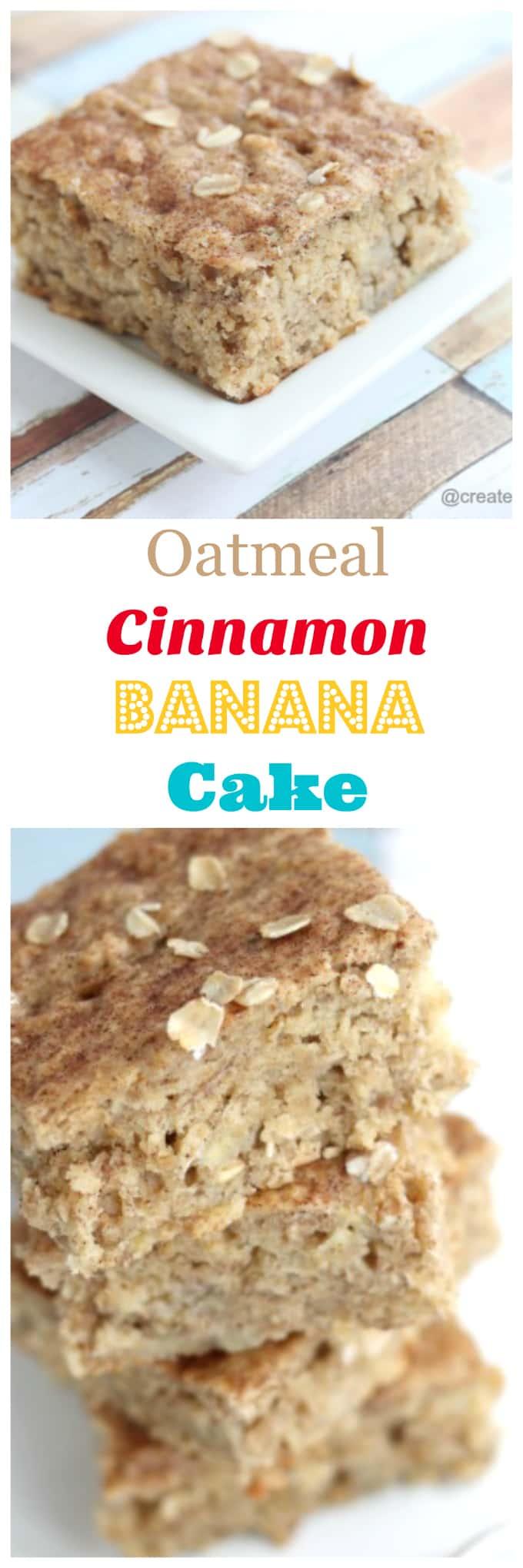 oatmeal cinnamon banana cake @createdbydiane