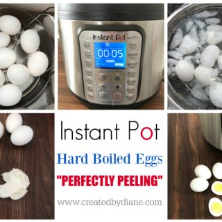 perfectly cooked hard boiled eggs that are perfectly peeling instant pot www.createdbydiane.com