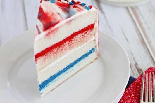 slice of Patriotic Cake from @createdbydiane