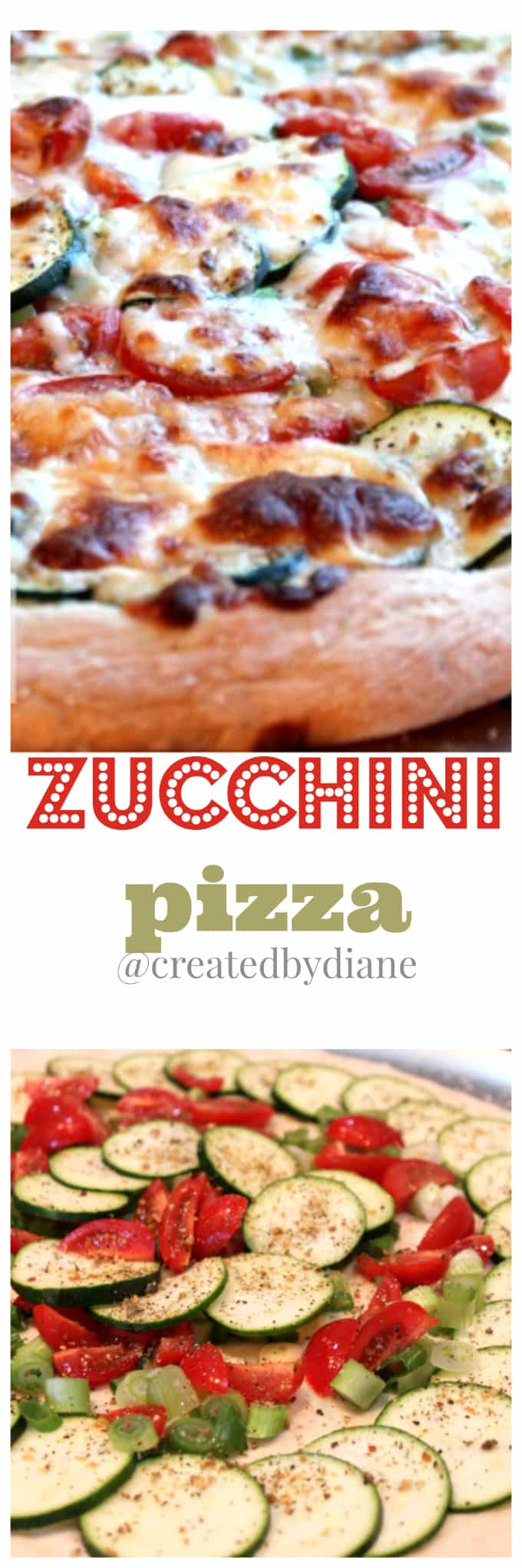 zucchini pizza @createdbydiane
