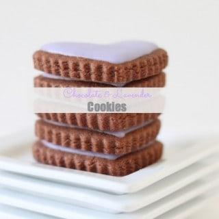 Chocolate & Lavender Cookies