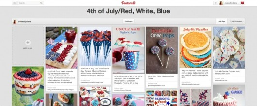 Pinterest July4th board