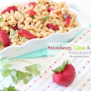 Strawberry Lime & Jalapeño Pasta Salad