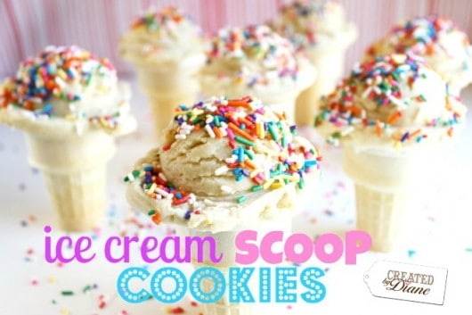 vanilla ice cream scoop cookies