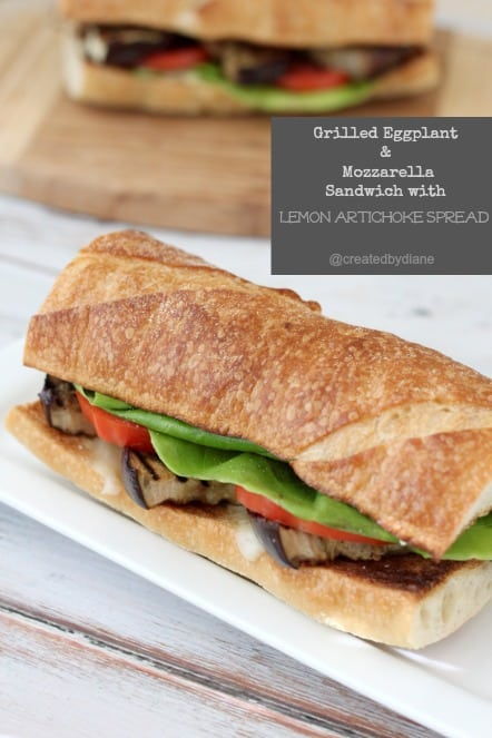 Grilled Eggplant & Mozzarella Sandwich with Lemon Artichoke Spread with @sargentocheese from @createdbydiane.jpg