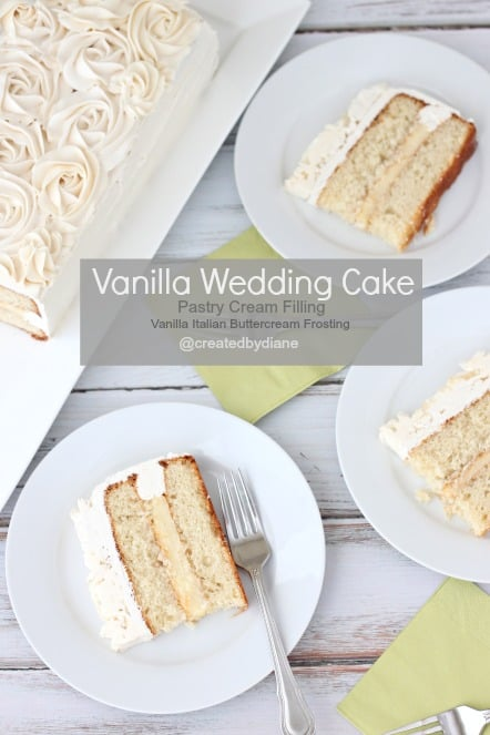 Wedding Cake Recipe.Vanilla Wedding Cake