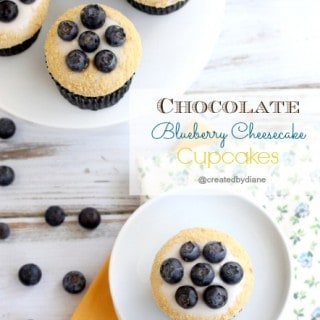 Chocolate Blueberry Cheesecake Cupcakes
