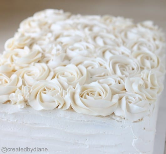 How to decorate a Rose Cake @createdbydiane