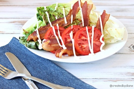BLT Grilled Romaine Salad @createdbydiane.jpg