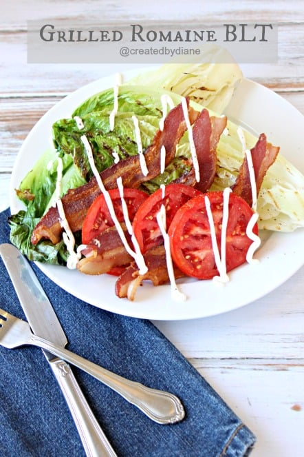 Grilled Romaine BLT with yogurt dressing @createdbydiane