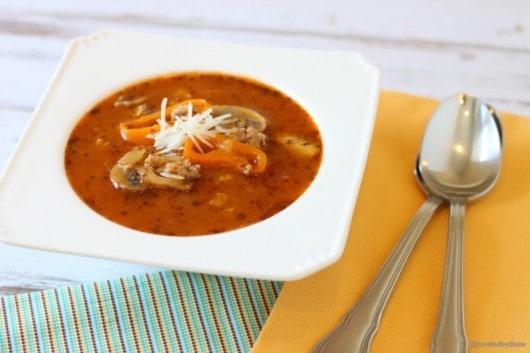 Italian Turkey mushroom Orzo Soup recipe @createdbydiane.jpg