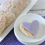 Lavender icing on Lavender Scones @createdbydiane