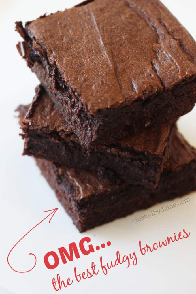 OMG the best fudgy brownies createdbydiane.com