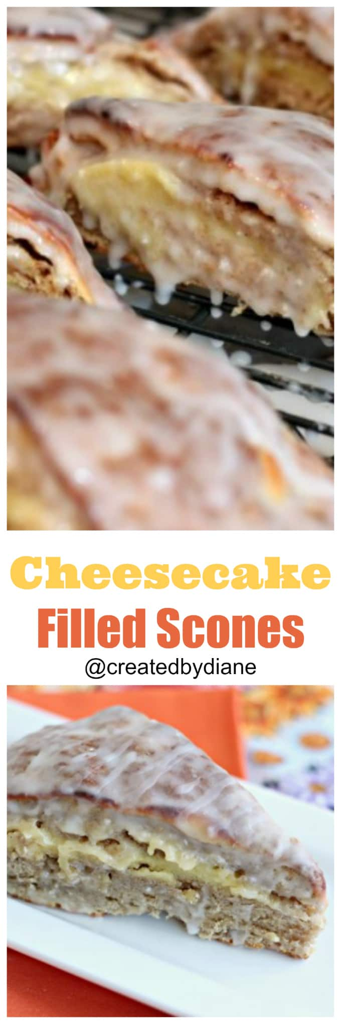 cheesecake filled scones @createdbydiane