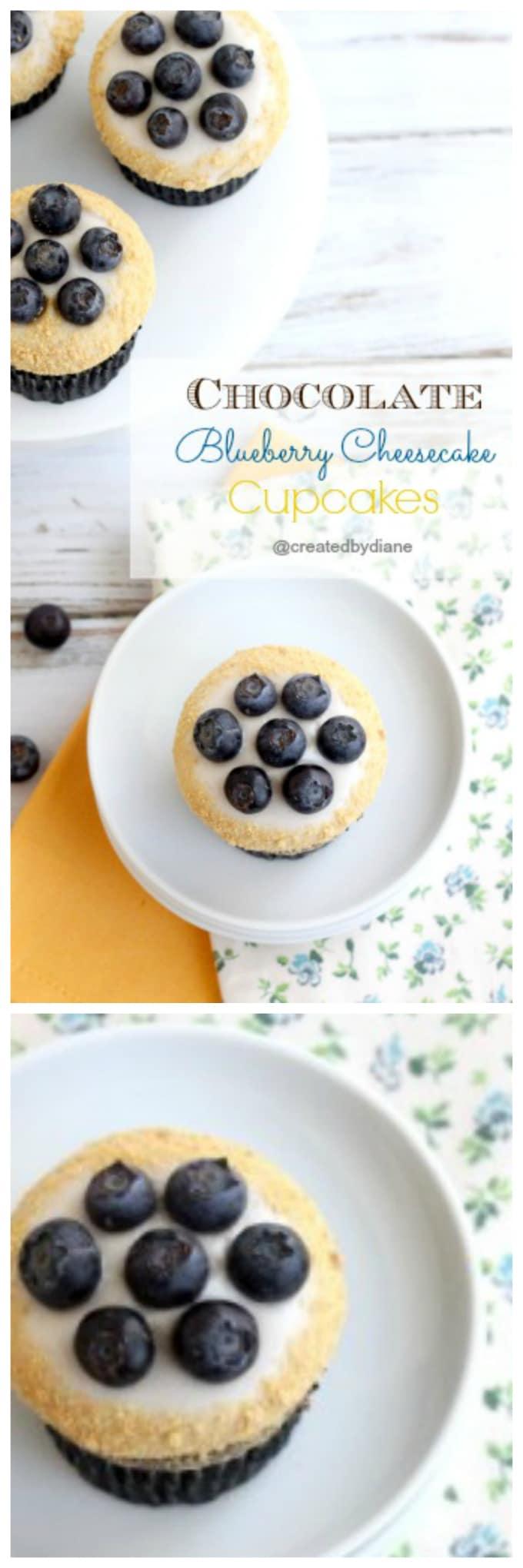 chocolate blueberry cheesecake cupcakes @createdbydiane