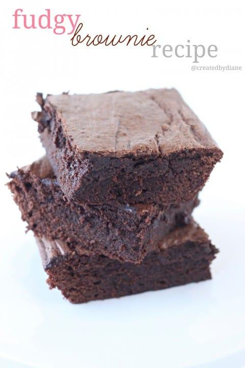 fudgy brownie recipe @createdbydiane #OXOGoodBrownie