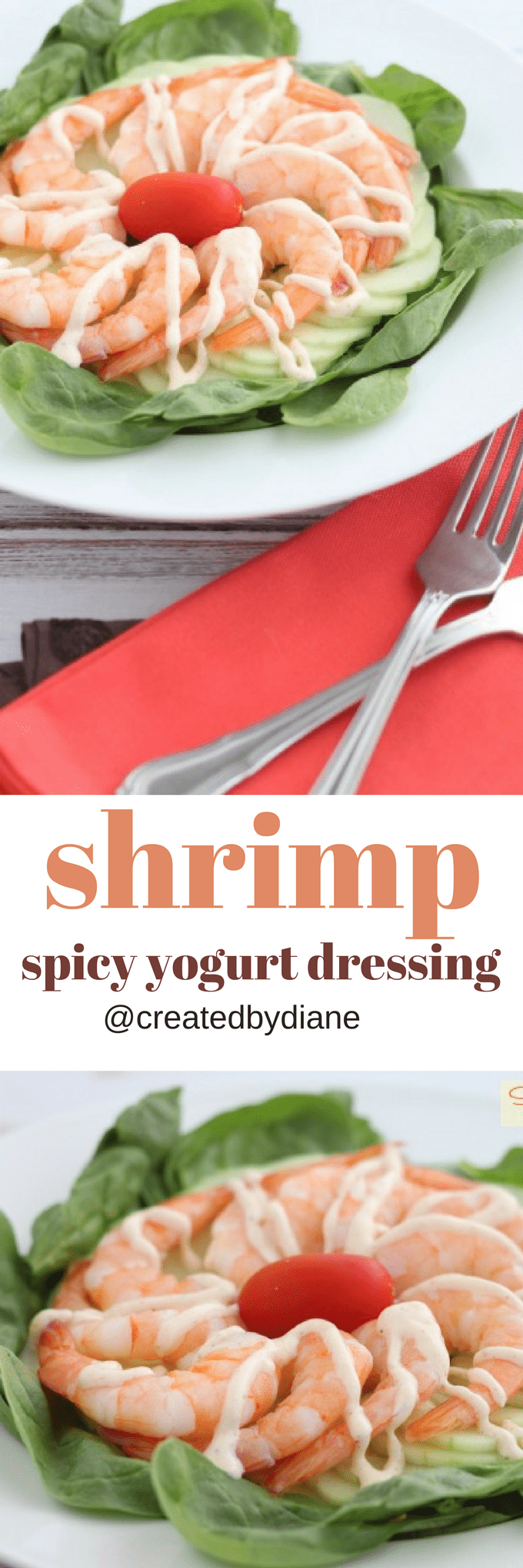 shrimp with spicy yogurt dressing @creatdbydiane