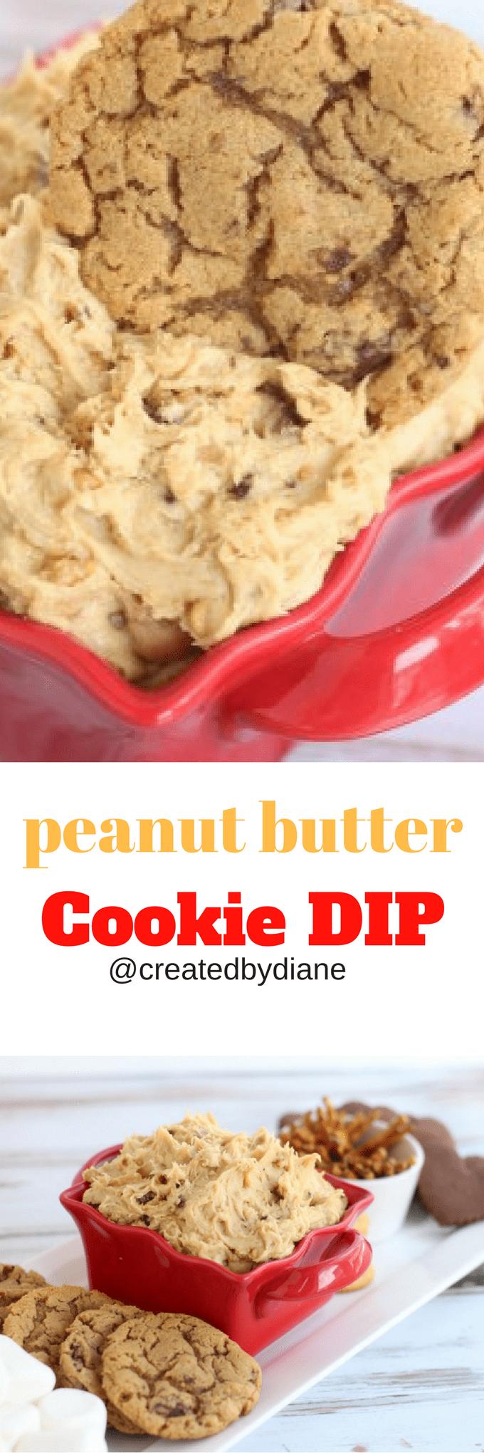 peanut butter cookie DIP no-bake dessert  @createdbydiane