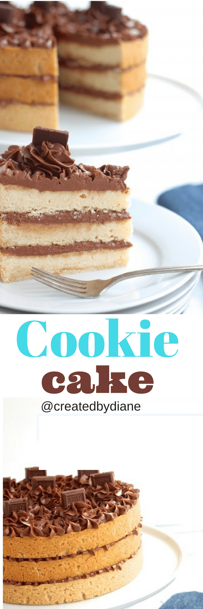 hersheys chocolate sugar cookie cake @createdbydiane