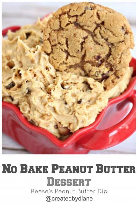no bake peanut butter dessert @createdbydiane