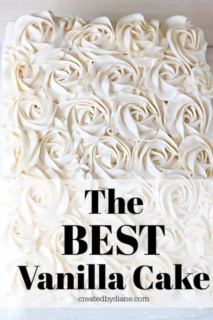 the best vanilla cake recipe, filled with vanilla pastry cream and decorated with vanilla italian buttercream frosting createdbydiane.com 2 layer wedding sheet cake