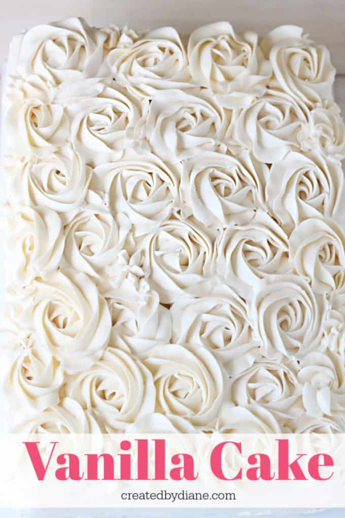 vanilla cake recipe createdbydiane.com