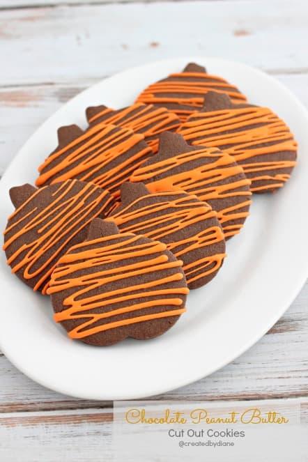 Chocolate Peanut Butter Cookies @createdbydiane