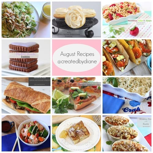 August Recipes @createdbydiane