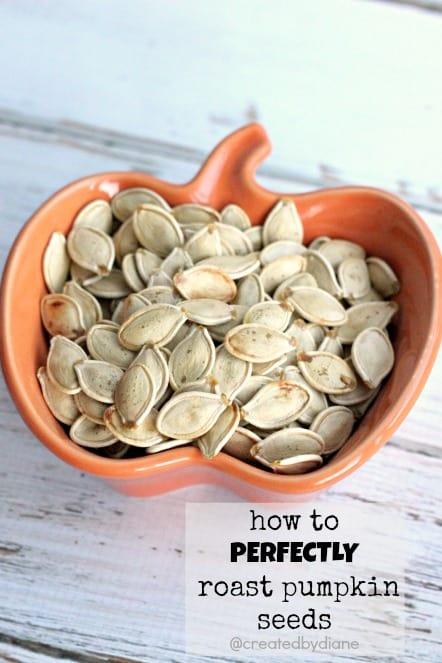 How to PERFECTLY roast pumpkin seeds createdbydiane.com