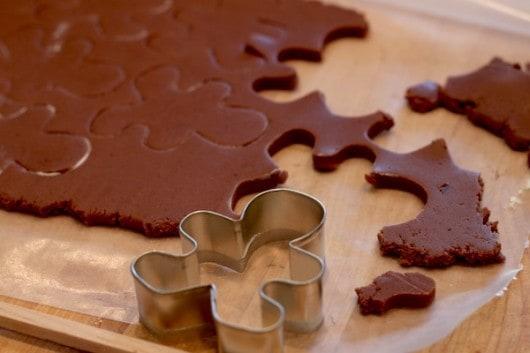 chocolate pumpkin cut out cookies