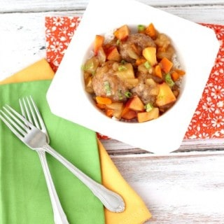 Pineapple & Peach Turkey Meatballs