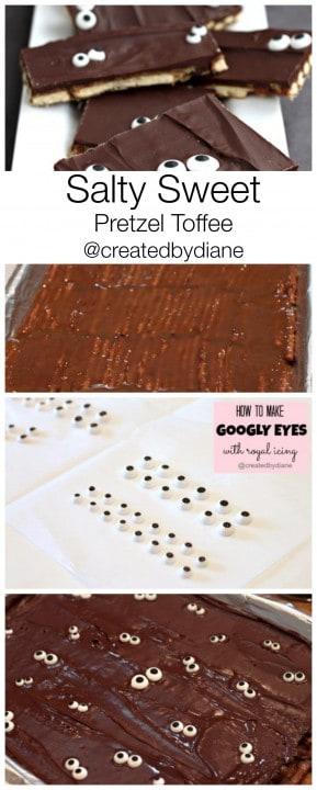 Salty Sweet Pretzel Toffee #Halloween @createdbydiane #chocolate