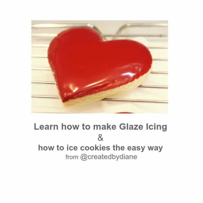 learn how to make glaze icing and how to ice cookies the easy way @createdbydiane