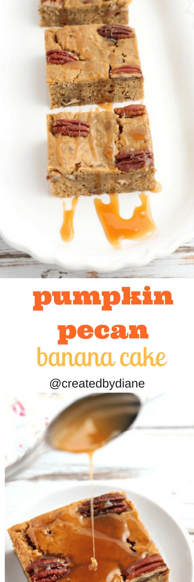 pumpkin pecan banana cake @createdbydiane