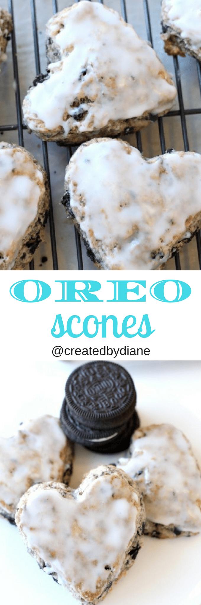 glazed oreo scone recipe @createdbydiane