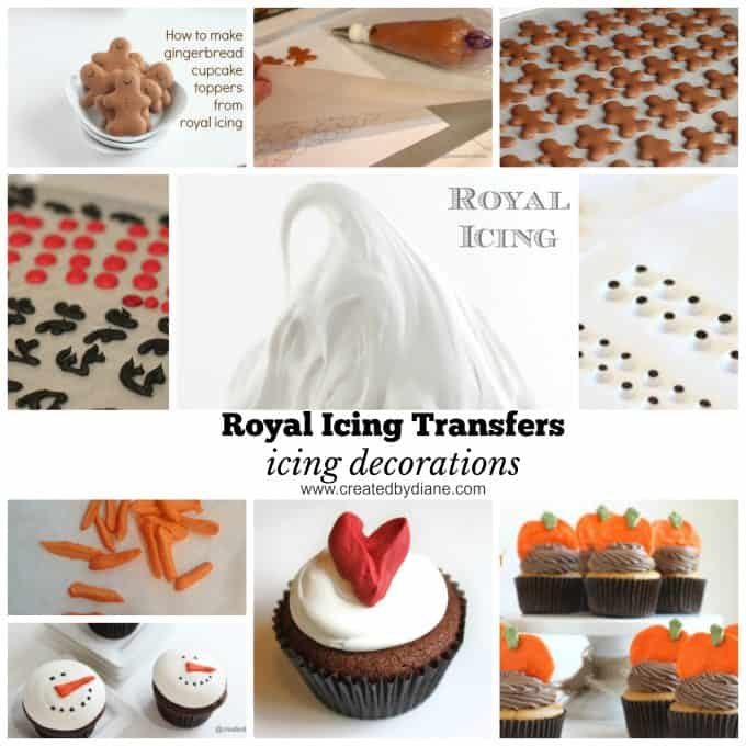 royal icing transfers, icing decorations for cakes, cookies, www.createdbydiane.com