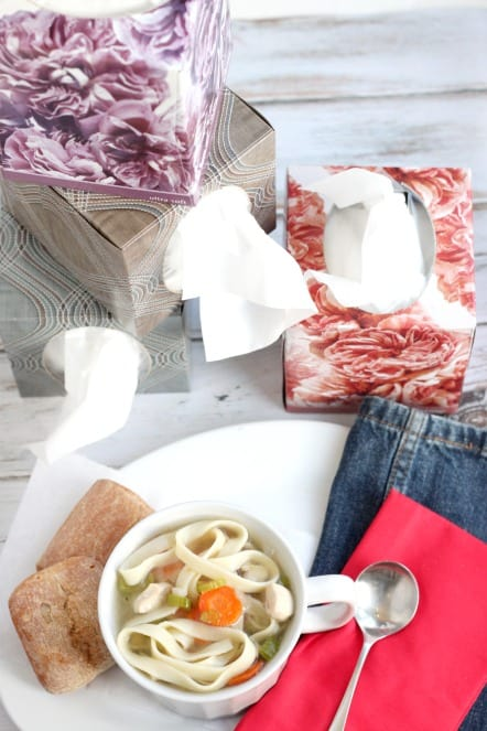 Kleenex and Chicken Noodle Soup PERFECT for Cold and Flu Season @createdbydiane.jpg