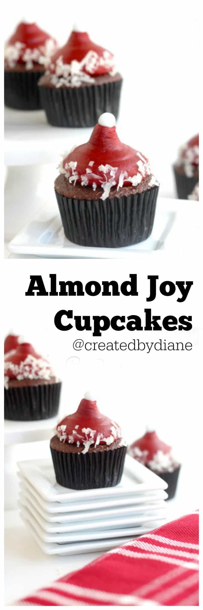 almond joy cupcakes @createdbydiane